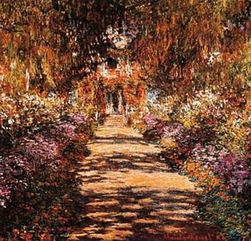 Une Allée du jardin de Monet, Giverny (Oscar-Claude Monet)