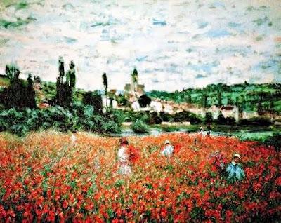 Camp de roselles en Vetheuil (Oscar-Claude Monet)