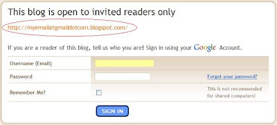 email in blog title to enable surfers to apply for permission to view private blogs