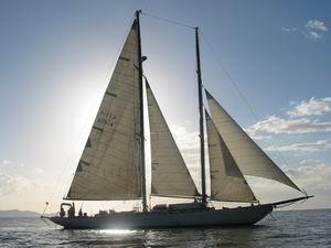 schooner, ranger, classic, staysail, sail, sailing, costa rica
