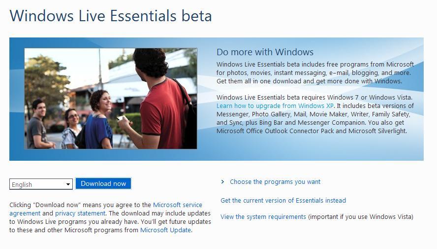 Windows live essentials 2009 (full-installer) download chip.