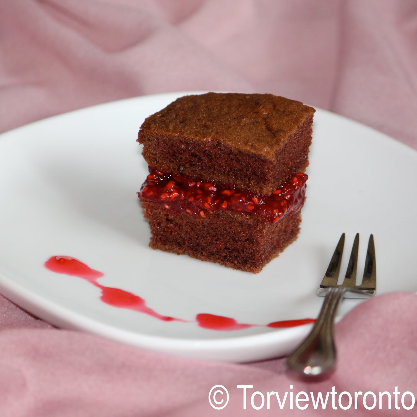 Torviewtoronto Chocolate Cake With Raspberry Jam