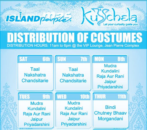 Island People Costume Distribution & TRIBE LINEUP