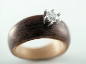 Unique! Wooden wedding bands