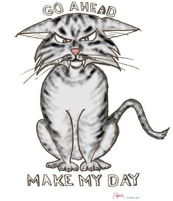 angry cat cartoon - photo #24