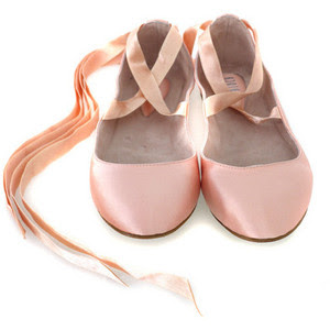 Ballet With Ribbon Pink Shoes Size