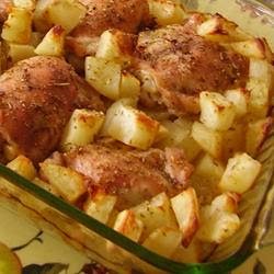 Lebanese Chicken and Potatoes Recipe