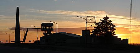 Amanecer en Península Valdés centro de visitantes