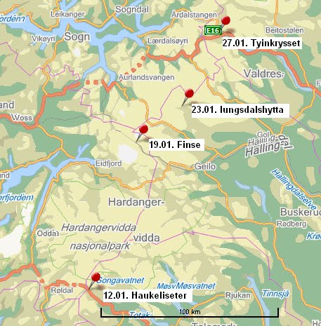 geiterygghytta kart Damer på langs: 03/14/10 geiterygghytta kart