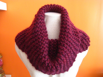 FREE KNITTING PATTERN MOHAIR COWL - VERY SIMPLE FREE