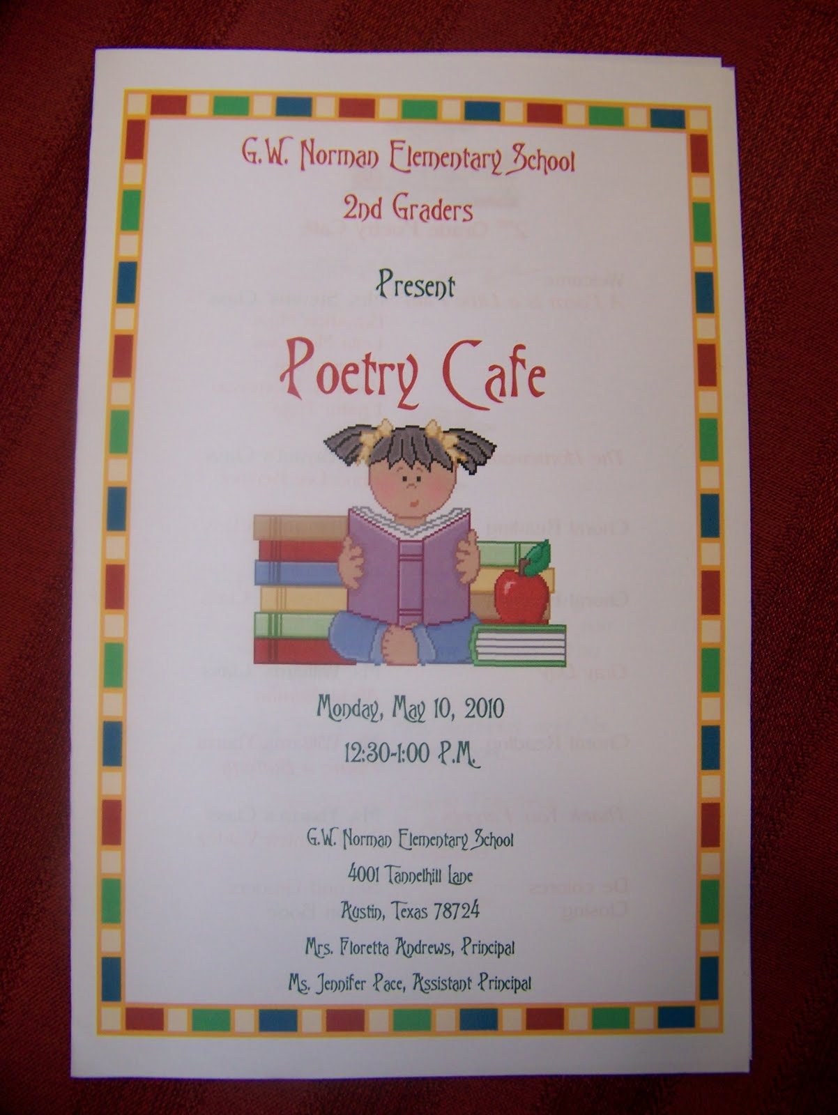 Tales From Tiger Land 2nd Grade Poetry Cafe