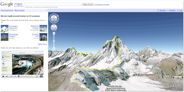 Matterhorn in Google Maps