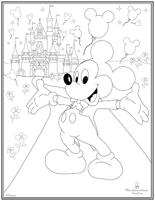 disney rides coloring pages | Main Street Gazette: A party is coming your way