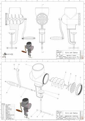 Catia e Inventor con Ciri: Picadora Manualy a Motor