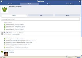 Touch Screen Facebook