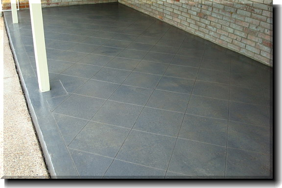 Awesome Exterior Stained Concrete Patio For Your Lovely ...