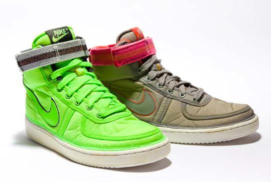 buy online bd457 ce104 We give you another look at the Nike Spring 2010 Collection. The Vandal High  Vintage returns in two colorways – grey and neon green.
