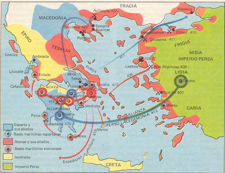 peloponeso mapa La Guerra del Peloponeso   Mapas Clásicos peloponeso mapa