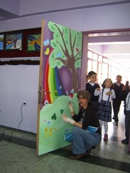 Alanayarts Okul Atelyemizin Kapısını Boyadım