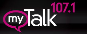 My Talk 107.1 logo from the website