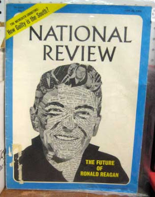 Cover of the National Review with collaged image of Ronald Reagan