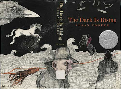 Cover and back cover of The Dark Is Rising