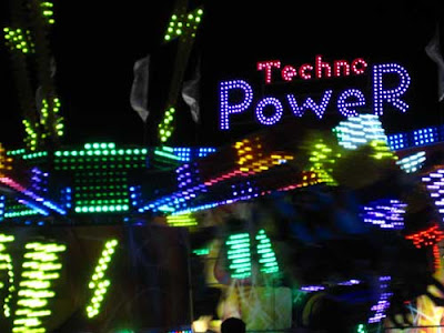 Techno Power ride lights at night