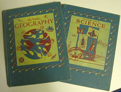 covers of The Golden Geography and Golden Science