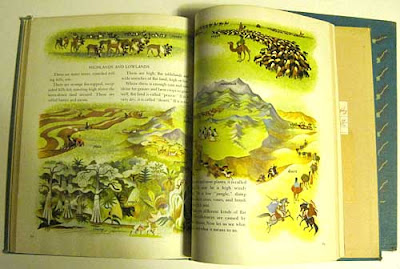Inside spread from the Golden Geography