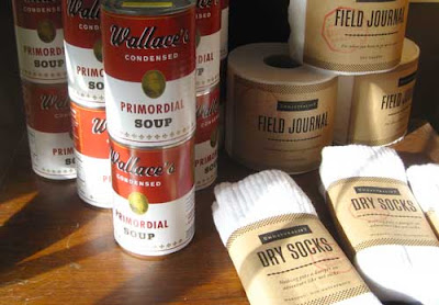 Cans of Primordial Soup, looking like Campbell's cans