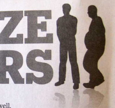 Two men silhouettes next to a SIZE MATTERS heading