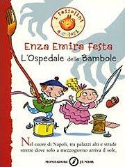 Copertina del libro per bambini dai 6 anni in 6 l'ospedale delle bambole, di Enza Emira Festa, edito da Mondadori nella collana i sassolini a colori