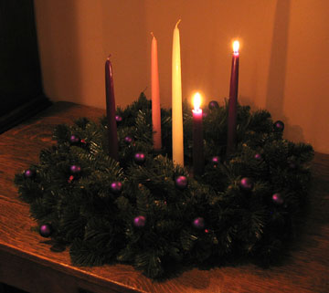 grace and peace family advent wreath dec 9 week 2 love. Black Bedroom Furniture Sets. Home Design Ideas