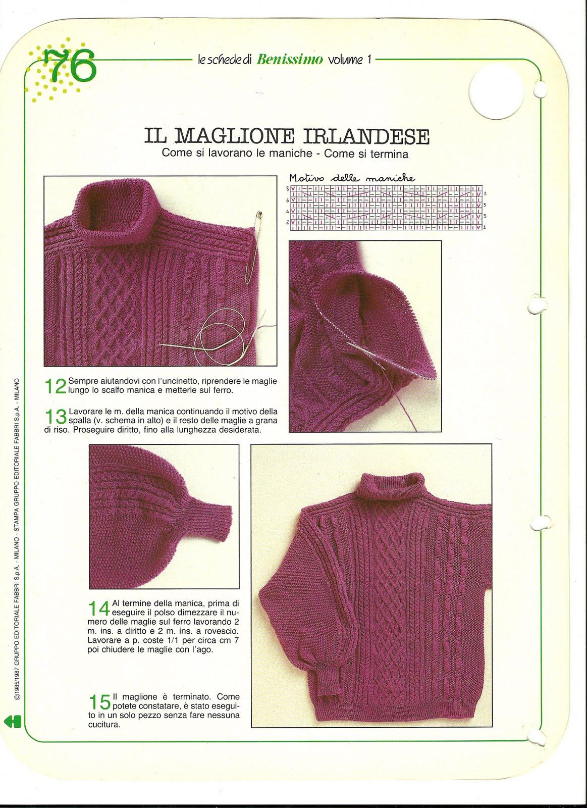 8b32c708a032 Fantasia Irlandese Crys Il Di Maglione gxgZHr