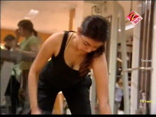 kajal south indian actress gym video  exercise videos
