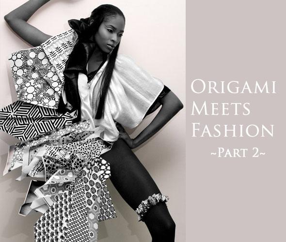 Ajurette Magablog Origami Inspired Fashion Designs Part Ii