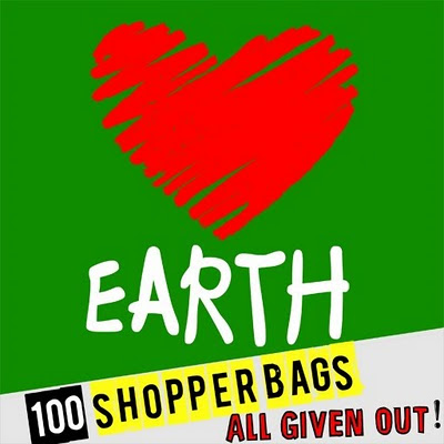 100 LOVE EARTH shopper bags