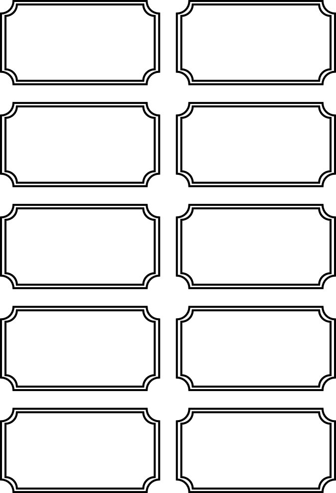 Printable Tickets Template free printable admit one ticket – Free Printable Tickets
