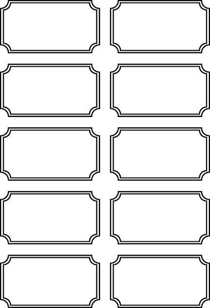 Free Printable Blank Tickets Templates  Printable Blank Tickets