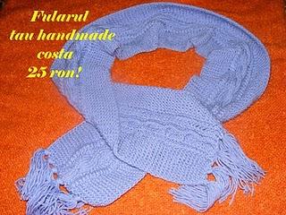 fular mov handmade tricotat manual calduros