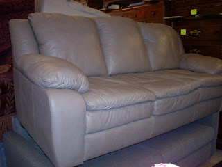 Supple Sand Color Leather Sofa