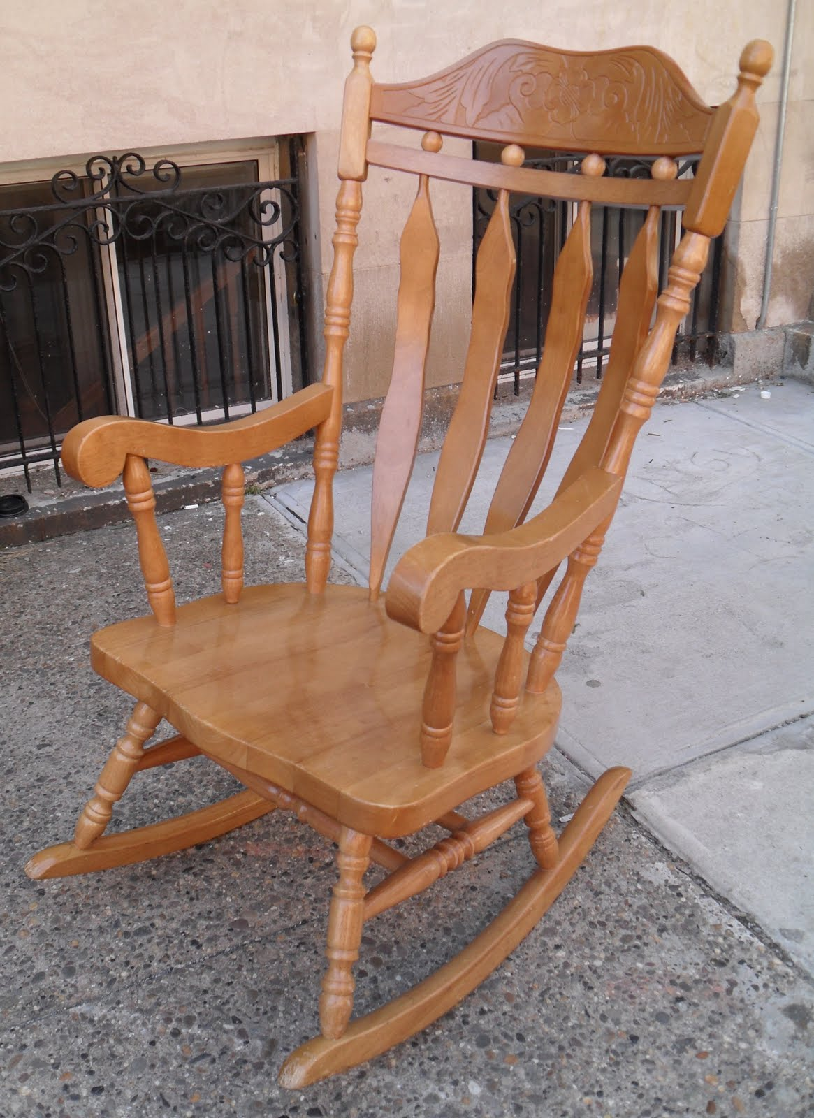 Unfinished Wood Rocking Chair Oversized Cover Uhuru Furniture And Collectibles Solid Sold