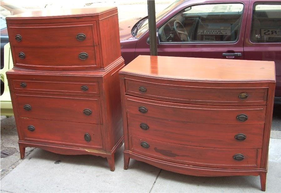 Uhuru Furniture Amp Collectibles 1940s Painted Mahogany