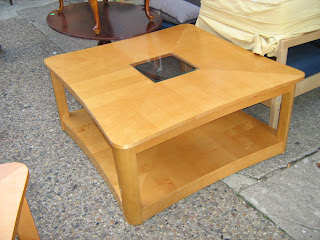 Blonde Wood Coffee Table And End Sold Soloshrinks