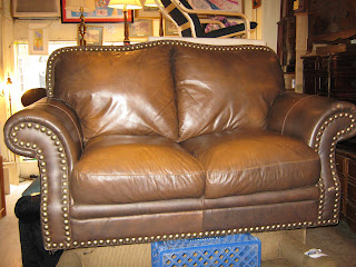 Super Uhuru Furniture Collectibles Brown Leather Loveseat Sold Bralicious Painted Fabric Chair Ideas Braliciousco