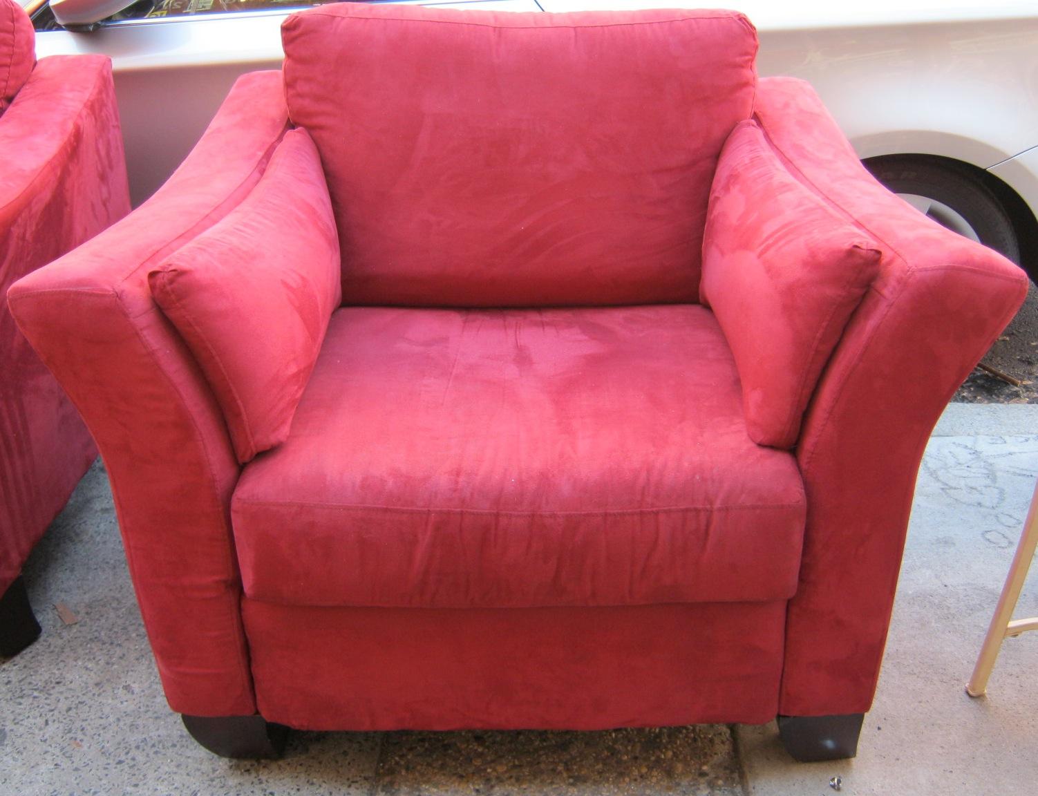 Red Microfiber Sofa Elegant Convertible Sectional Sofa W
