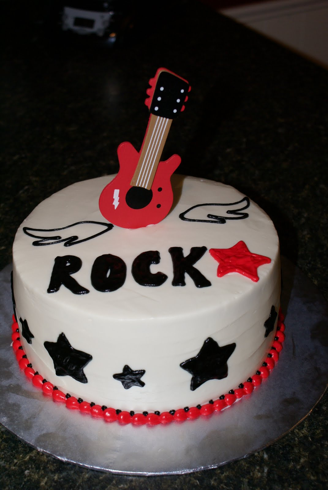 Sweet Creations By Heather Guitar Rock Star Cake