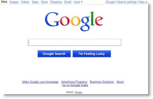 Technology Blog: Try GOOGLE NEW HOME PAGE with new logo and new search ...