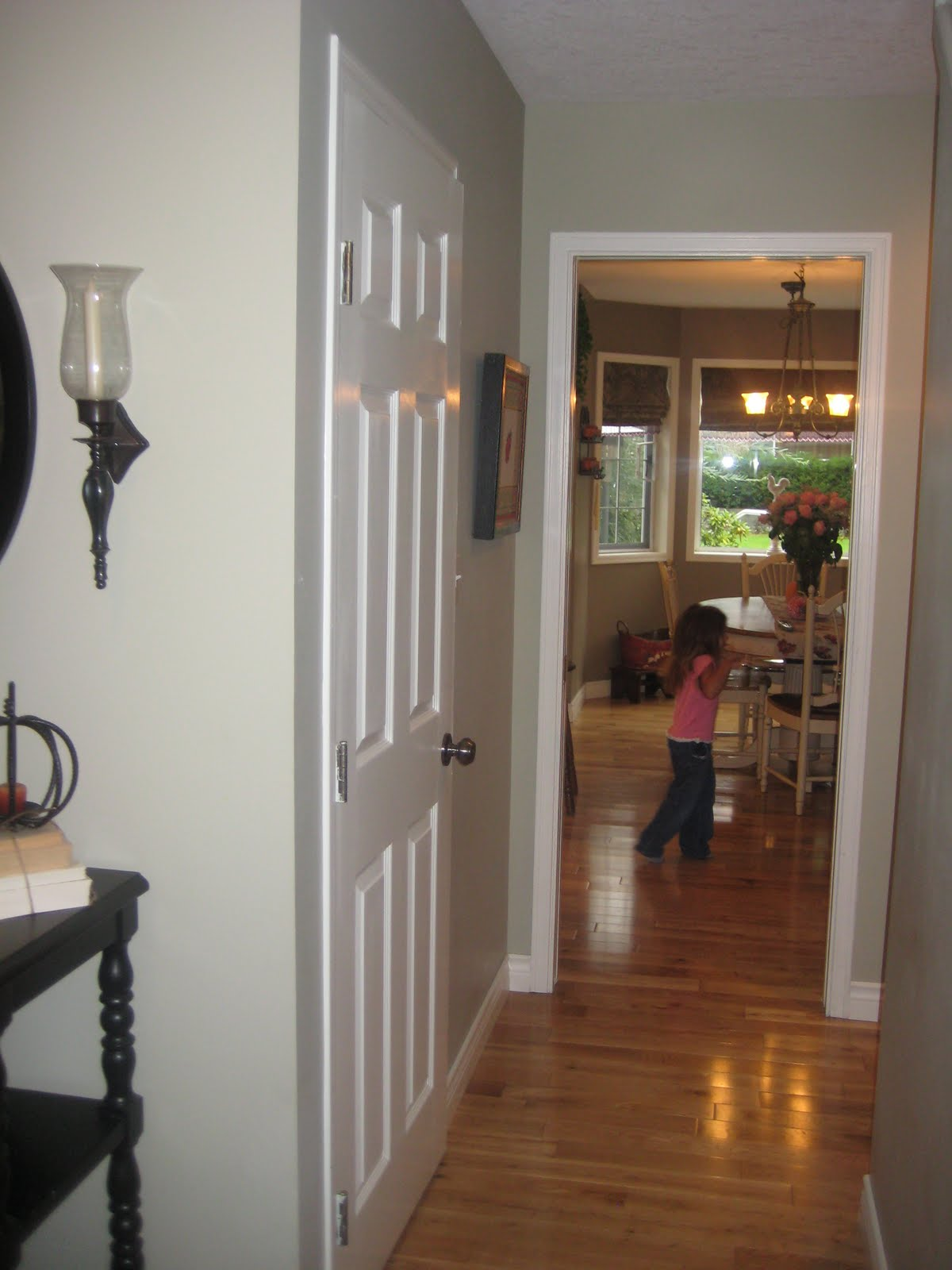 Remodelaholic Simple Wainscoting To Add Detail To Your Entry - Florentine Plaster Benjamin Moore