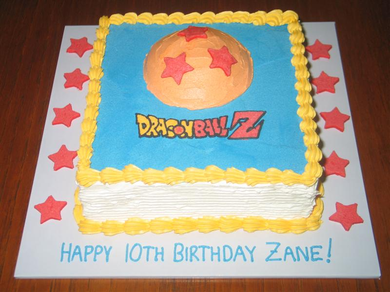 Dragon Ball Z Theme Birthday Cake For The Son Of One Mums At My Kids Playgroup